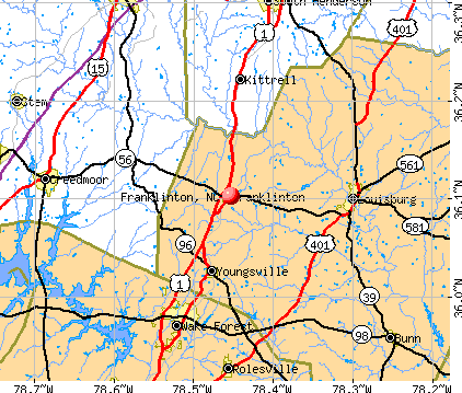 Franklinton, NC map