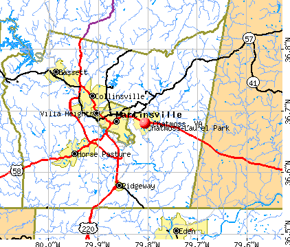 Chatmoss, VA map