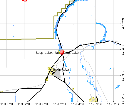Soap Lake, WA map