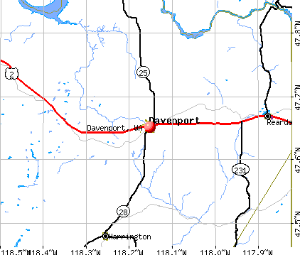 Davenport, WA map
