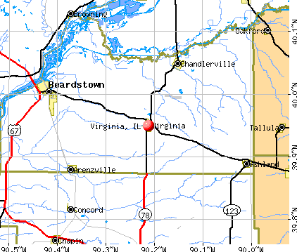 Virginia, IL map