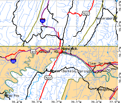 Hancock, MD map
