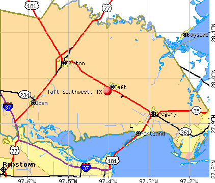 Taft Southwest, TX map