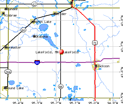Lakefield, MN map