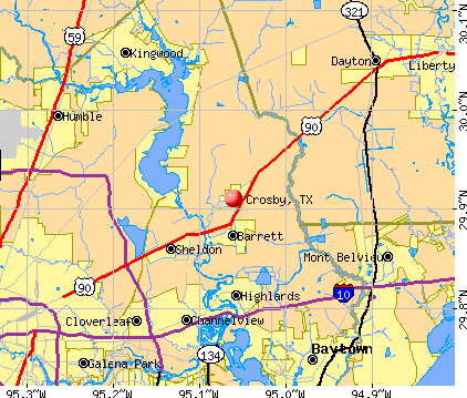 Crosby, TX map