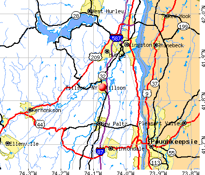 Tillson, NY map