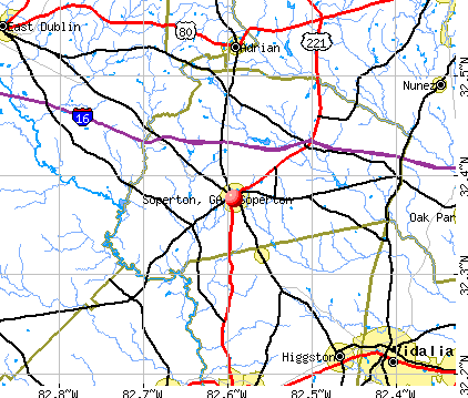 Soperton, GA map