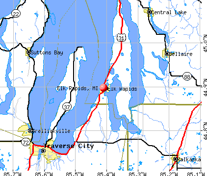 Elk Rapids, MI map