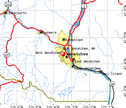West Wenatchee, WA map