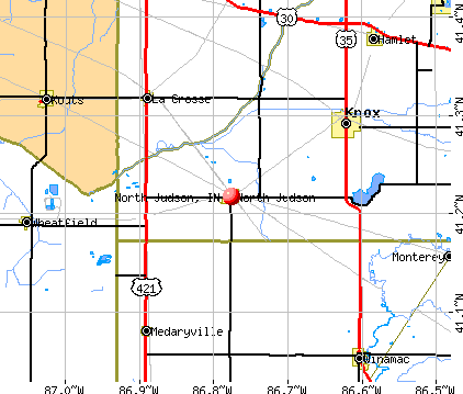 North Judson, IN map