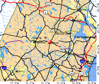 Epping, NH map