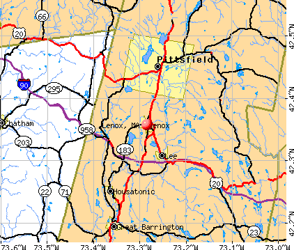 Lenox, MA map