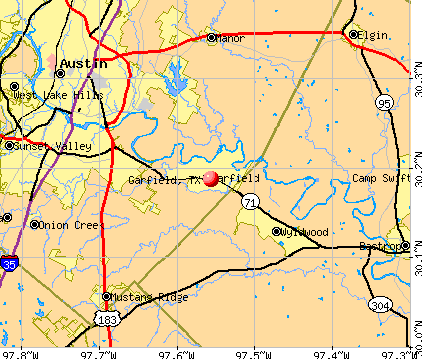 Garfield, TX map