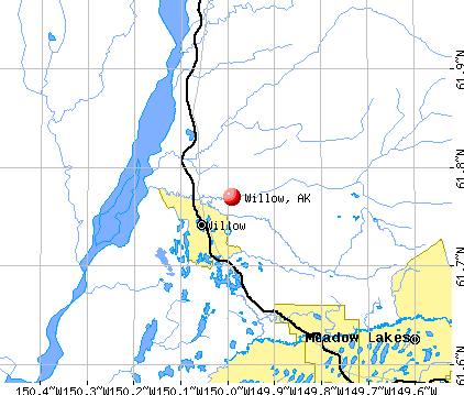 Willow, AK map
