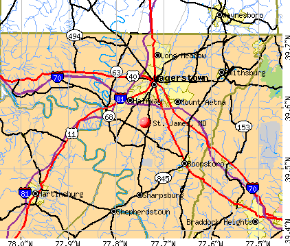 St. James, MD map