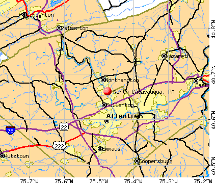 North Catasauqua, PA map