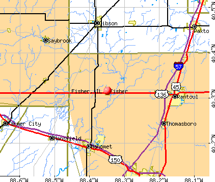 Fisher, IL map