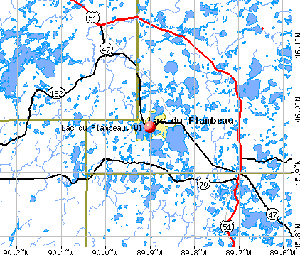 Lac du Flambeau, WI map