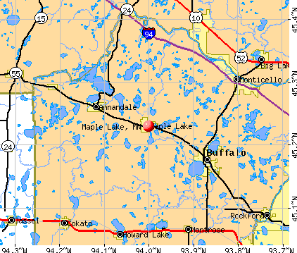 Maple Lake, MN map