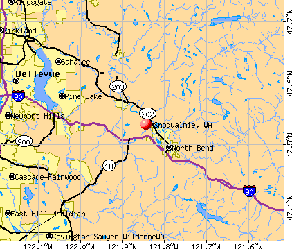 Snoqualmie, WA map