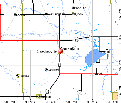 Cherokee, OK map