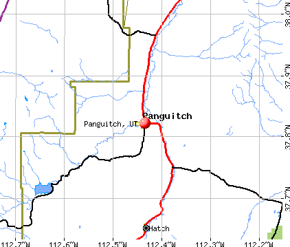 Panguitch, UT map