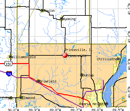 Princeville, IL map