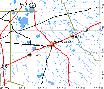 Homerville, GA map