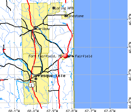 Fort Fairfield, ME map