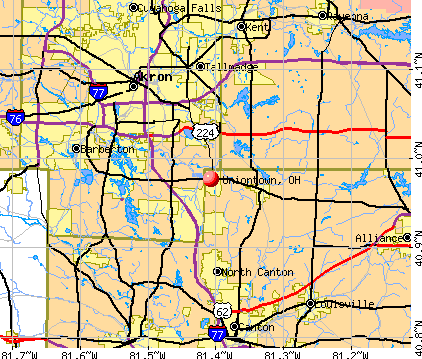 Uniontown, OH map