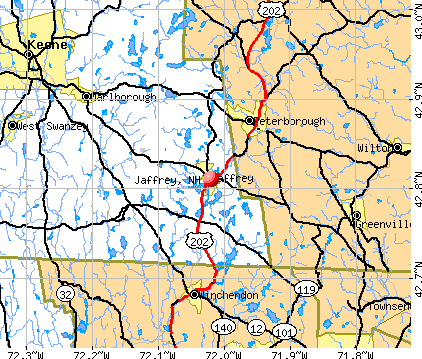 Jaffrey, NH map
