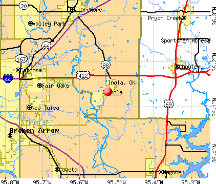 Inola, OK map