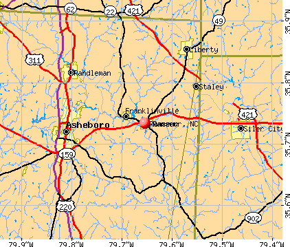 Ramseur, NC map