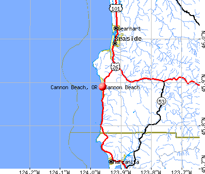 Cannon Beach, OR map