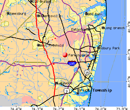 Farmingdale, NJ map