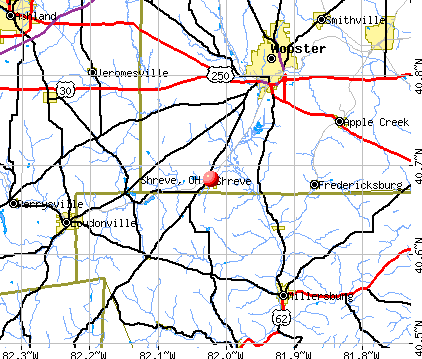 Shreve, OH map