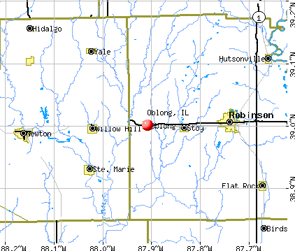 Oblong, IL map