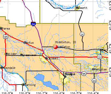 Middleton, ID map