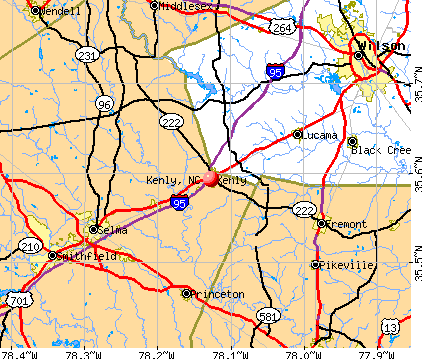 Kenly, NC map