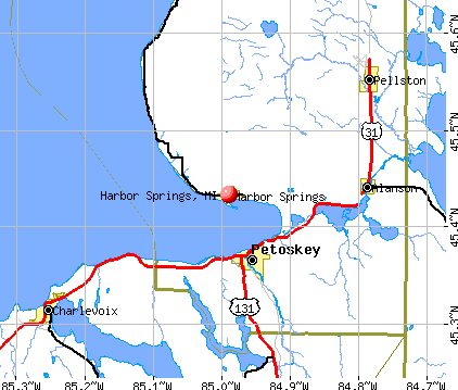 Harbor Springs, MI map