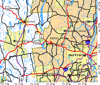 Canton Valley, CT map