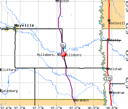 Hillsboro, ND map