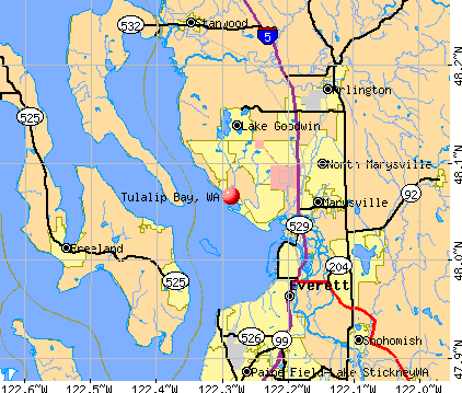 Tulalip Bay, WA map