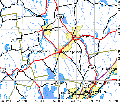Norridgewock, ME map