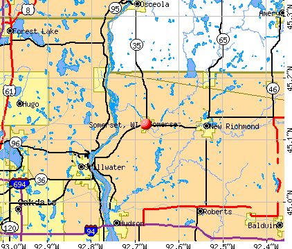 Somerset, WI map