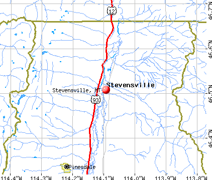 Stevensville, MT map