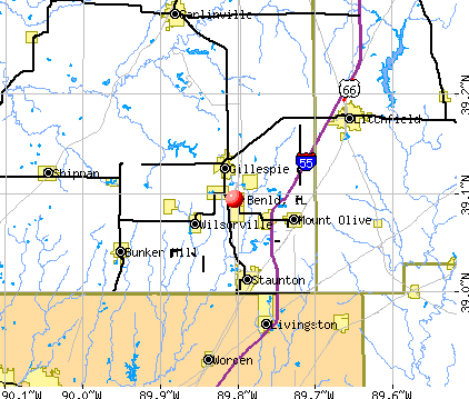 Benld, IL map