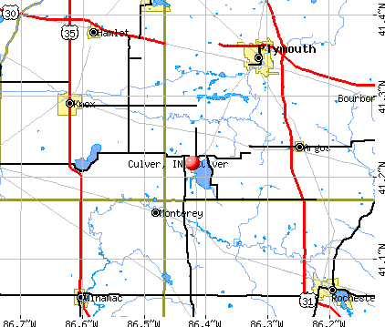 Culver, IN map