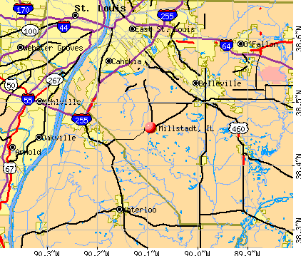 Millstadt, IL map