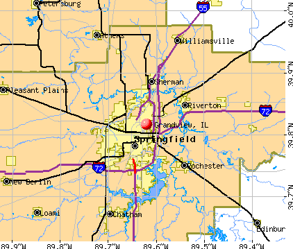 Grandview, IL map